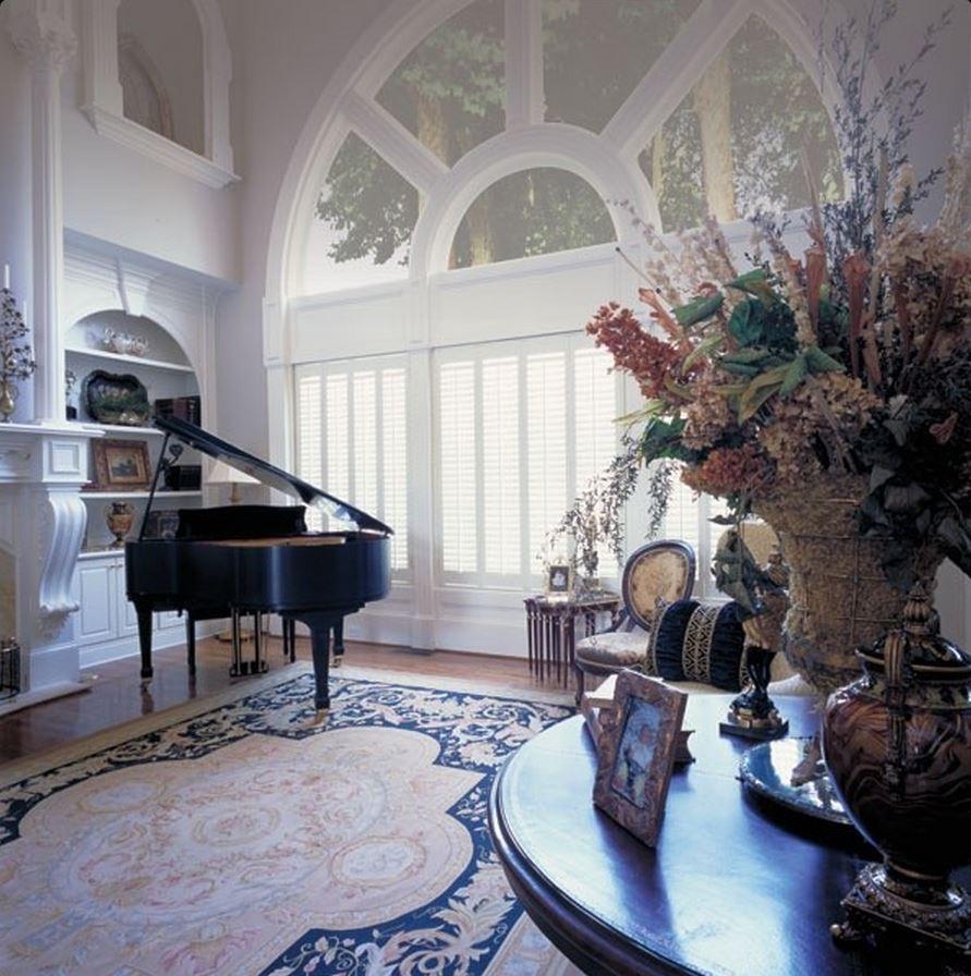 Shutters in formal living room