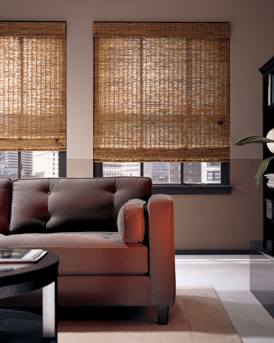woven wood shades living room