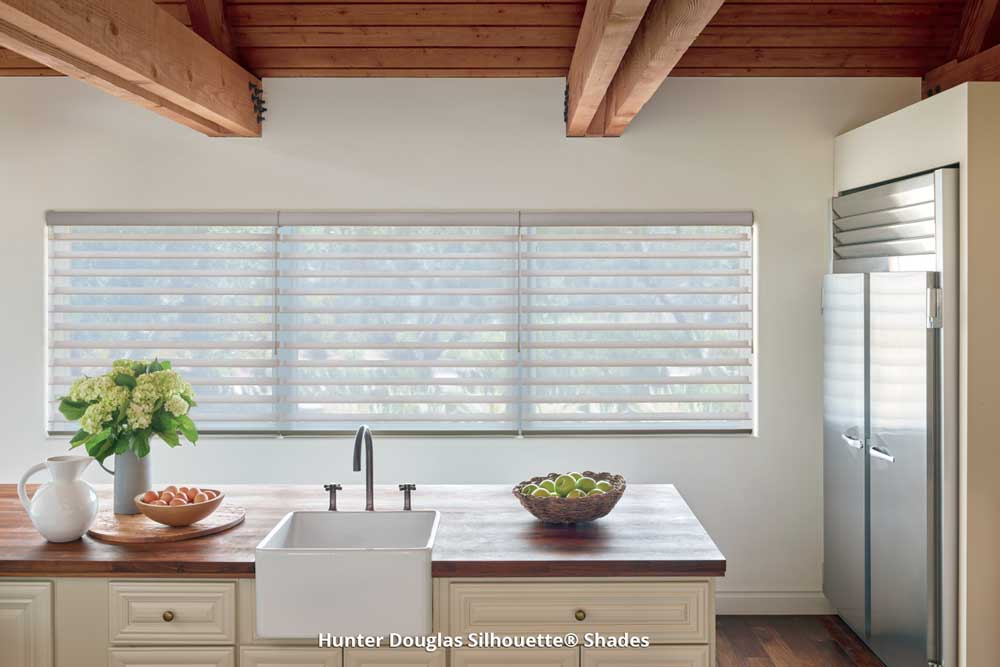 Hunter Douglas Shades in Kitchen