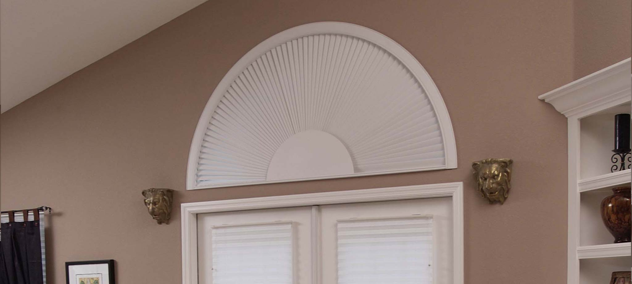 arched window with custom treatment