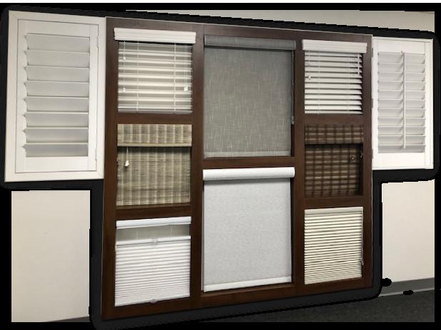 Window coverings display in builder's design center