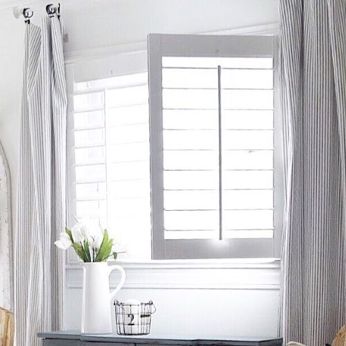 White shutters in Bathrrom