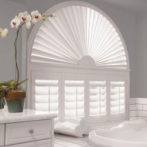 Custom specialty shades in arch window